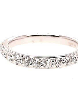 0.75ctw Diamond low-profile, prong set band, 14k white gold