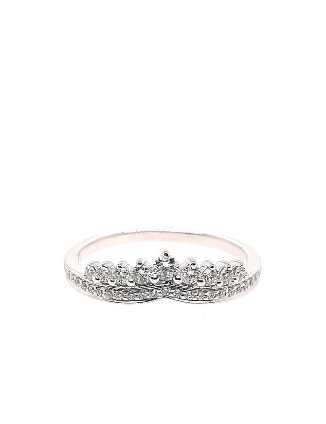 Diamond (0.30 ctw) crown-look band, 14k white gold