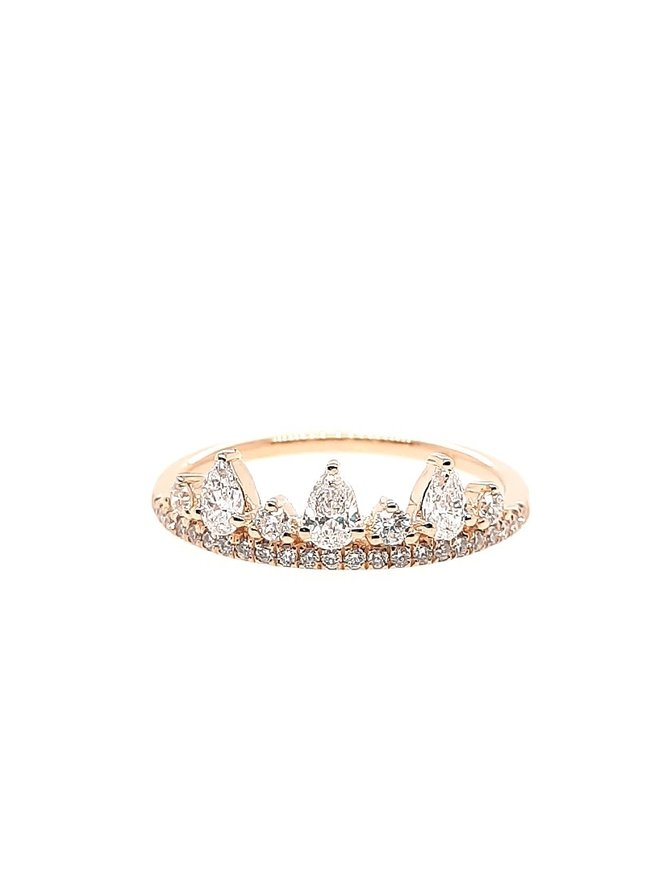 Diamond (0.51 ctw) tiara-look band, 14k yellow gold