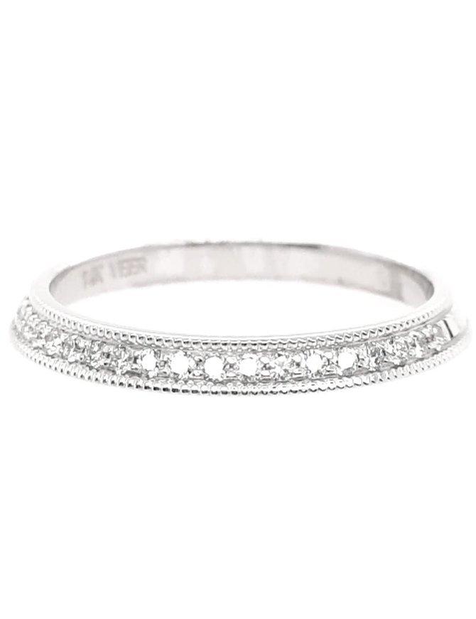 Diamond(0.25ctw) band 14k white gold