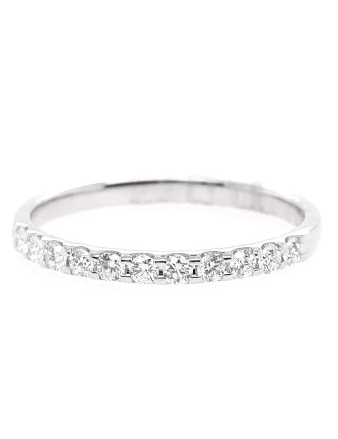 Diamond (0.25ctw) olive juice, 11 stone ring, 14k white gold