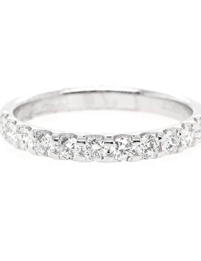 Diamond(0.50ctw) olive juice, 11 stone ring, 14k white gold