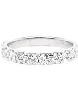 Diamond(1.00ctw) olive juice, 11 stone ring, 14k white gold