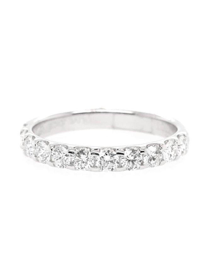 Diamond (0.75ctw) olive juice, 11 stone ring, 14k white gold