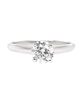 Diamond (0.74 ctw, I1) solitaire engagement ring, 14k white gold