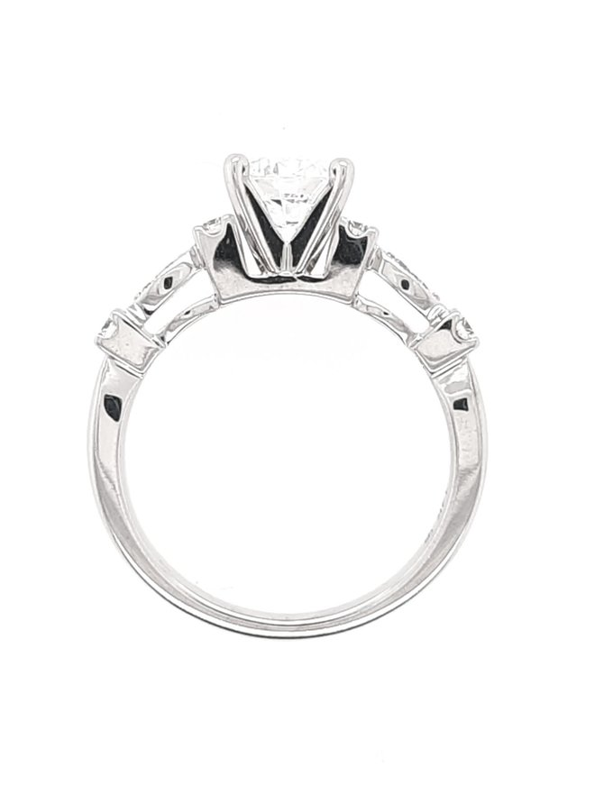 Diamond (0.18ctw,cz ctr) setting, 14k white gold