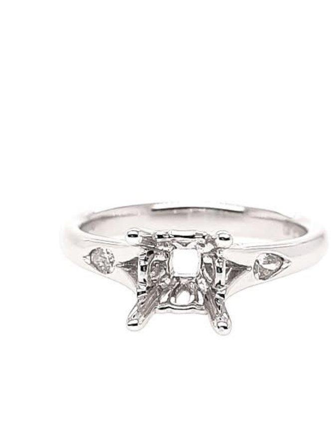 Diamond (0.10 ctw) setting, 14k white gold