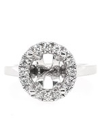 Diamond (0.32 ctw) halo setting, shown with a cz, center stone not included