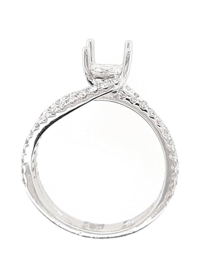 Diamond (0.42 ctw) swirl setting, platinum