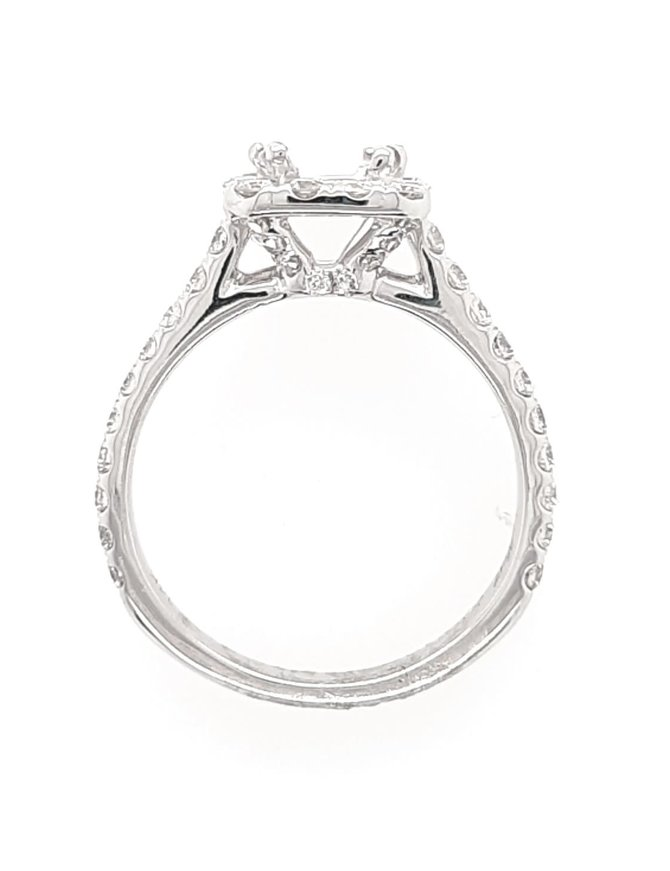 Ring White Gold 1/2 ct 3.4 gram