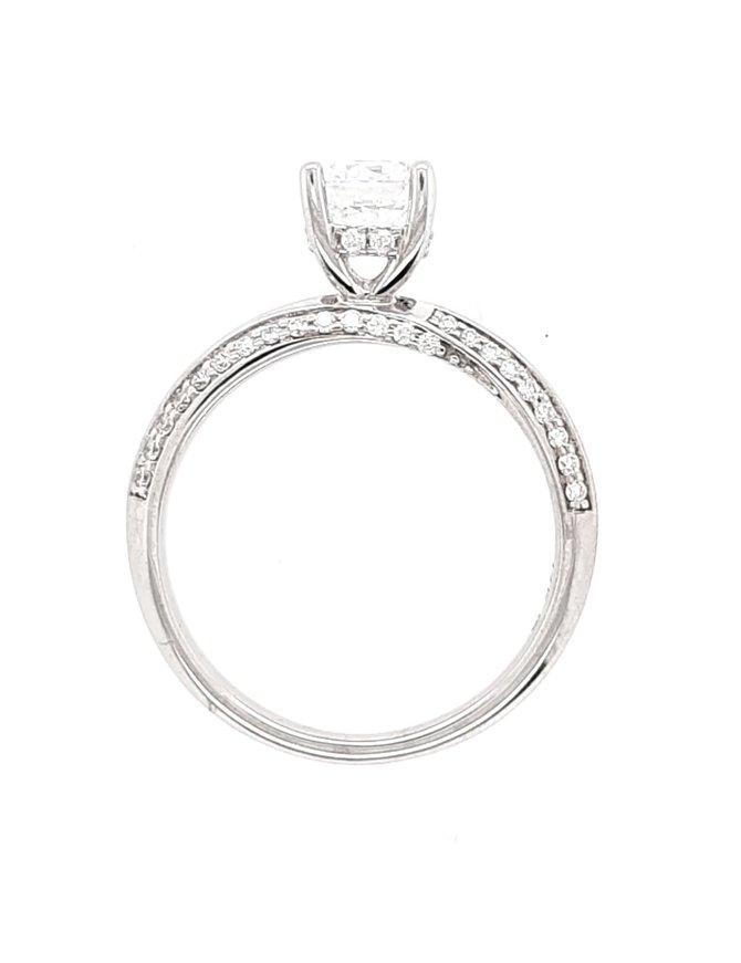 Diamond (0.26 ctw, cz center) twist setting, 14k white gold