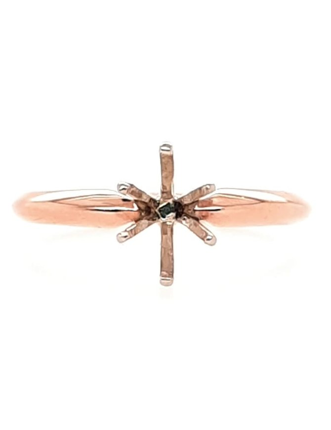 14K ROSE GOLD TIFFANY SOLITAIRE SEMI MOUNT (11/20)
