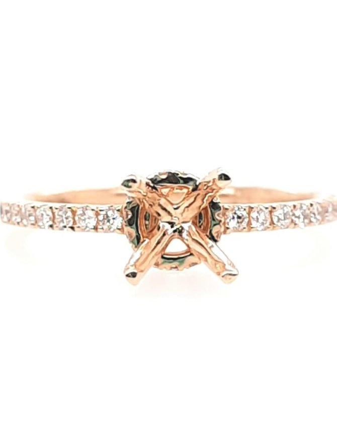 Diamond (0.34ctw) bridal setting, 14k yellow gold