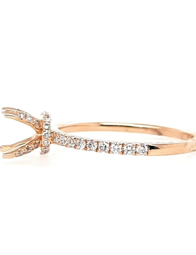 Diamond (0.34ctw) 14k yellow gold bridal setting