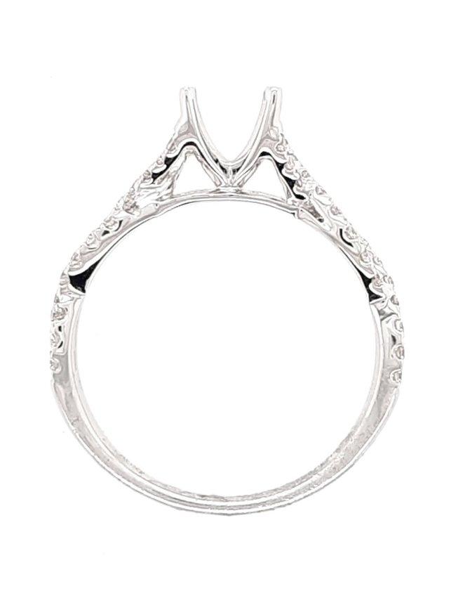 Diamond (0.32 ctw) braided setting, 14 kt white gold