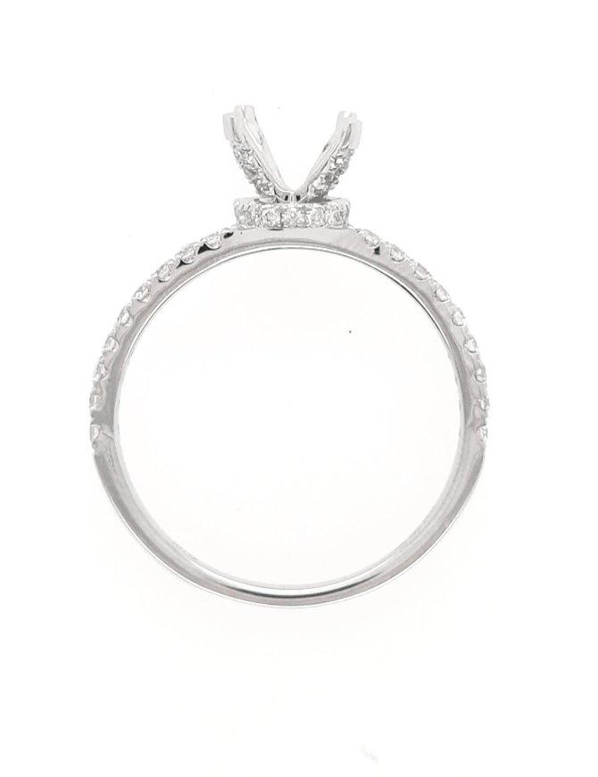 Diamond (0.34 ctw) setting with fancy head, 14k white gold