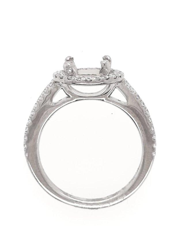 Diamond (1/3 ctw) halo setting, platinum 4.3g
