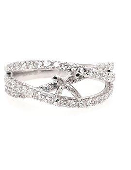 Diamond (0.4 ctw) crossover setting platinum