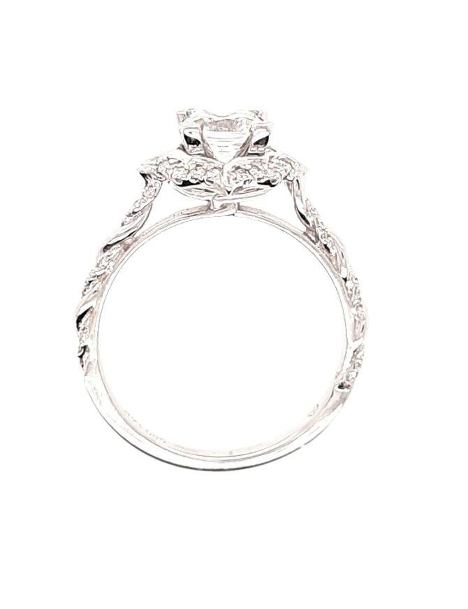 Diamond (0.21 ctw, cz center) twist setting, 14k white gold