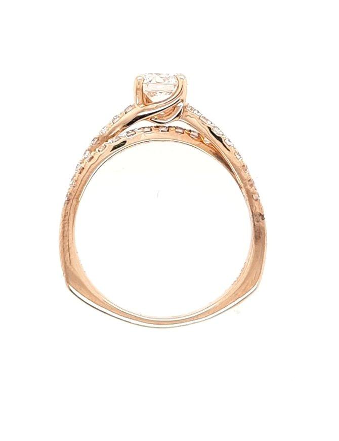 Diamond (0.59 ct center H/VS1, 0.87 ctw) engagement ring, 14k white gold