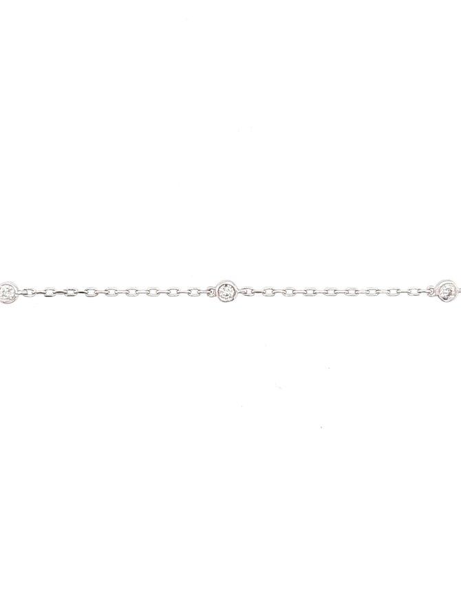 Add-a-diamond (0.20 ctw) bracelet, 14k white gold