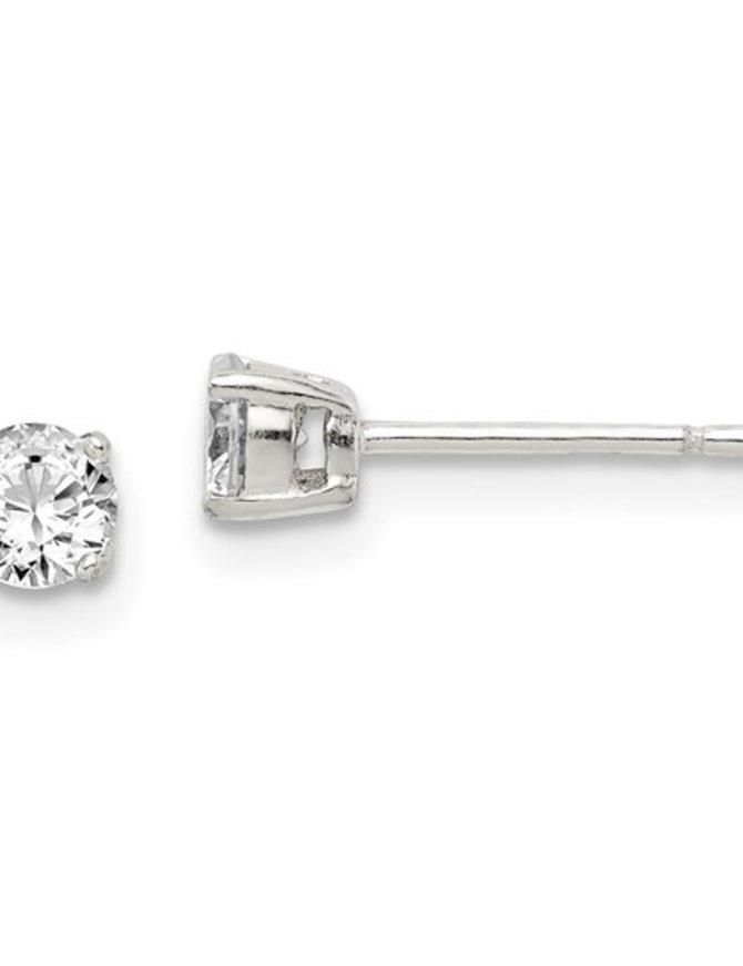 Diamond (0.40ctw), round stud earrings, 14k white gold