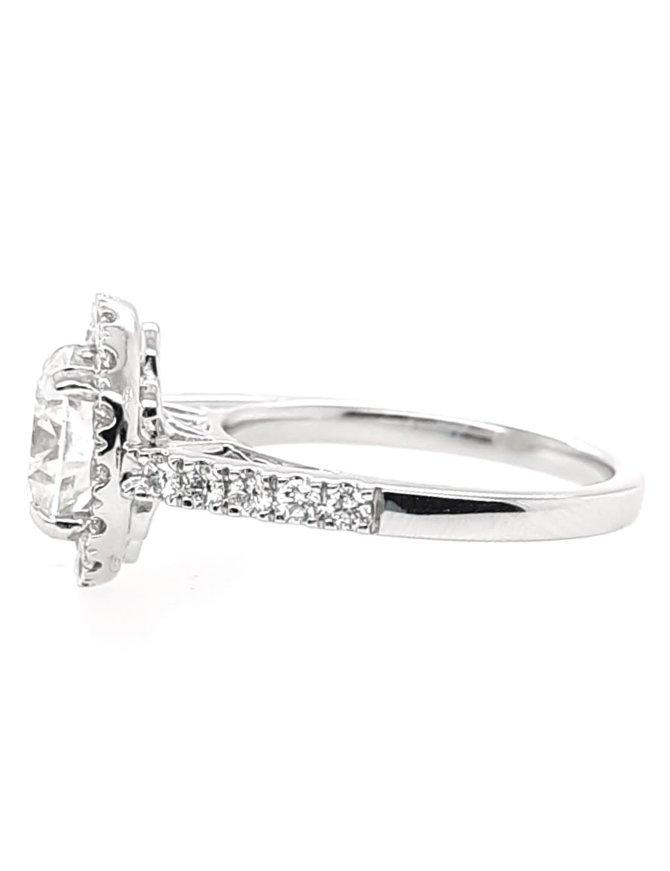 Diamond (2.01 ct ctr I/SI2, 2.61 ctw) 14k white gold