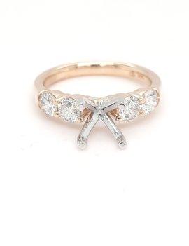 0.97ctw diamond engagement setting 14k yellow gold