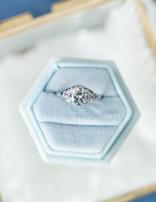Estate diamond (0.93 center H-I/I1, 1.00 ctw) ring, platinum