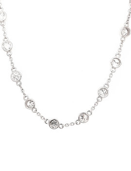 Diamond (0.50 ctw) by the yard necklace 14k white gold