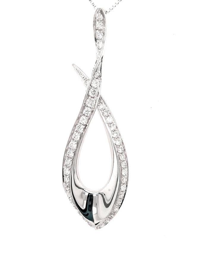 0.36ctw diamond fashion pendant 14k white gold