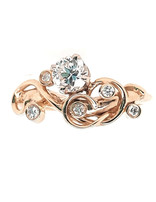 TQ Original diamond (0.37 ct center, 0.45 ctw) ring, 14k yellow gold