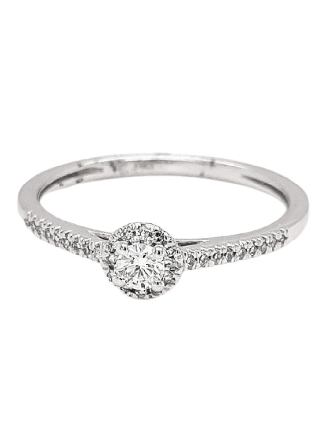 Diamond (0.20 ctw) engagement ring, 14k white gold