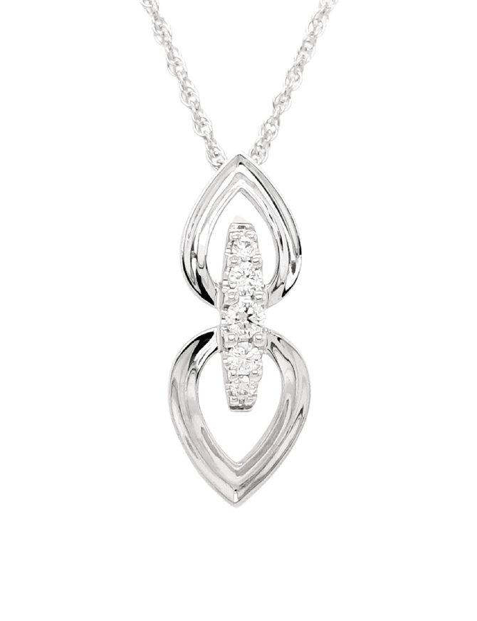 Diamond spire pendant, 0.22 ctw, chain included, 14kt