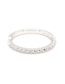 Diamond (0.05ctw) twisted band, 14k white gold *matches FE17A152