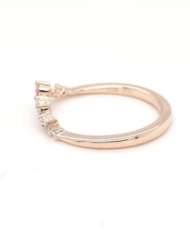 Diamond (0.15 ctw) tiara look band, 14k yellow gold