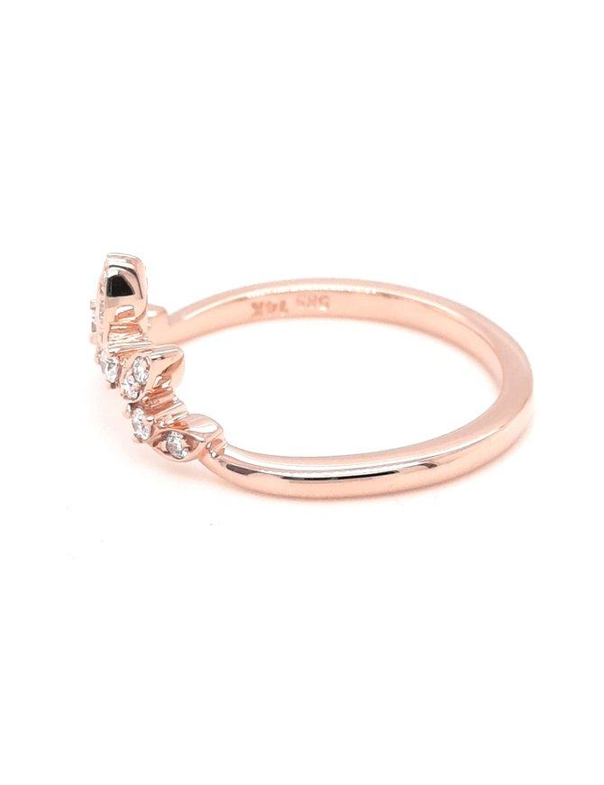 Diamond (0.14 ctw) tiara look band, 14k rose gold