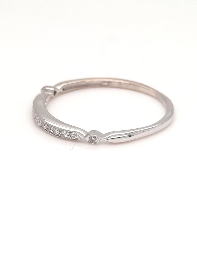 Diamond (0.07ctw) stackable band 14k white gold
