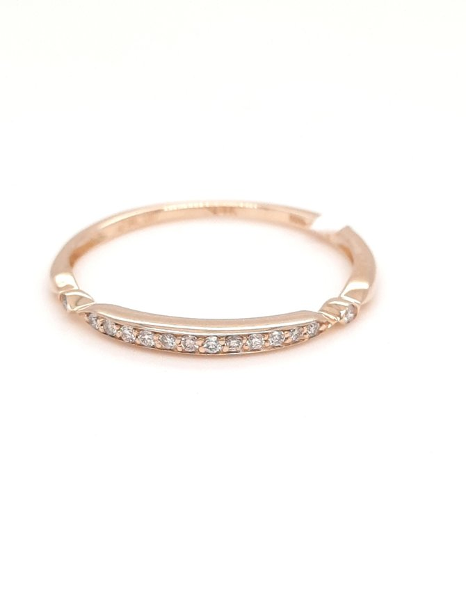 Diamond (0.07ctw) stackable band 14k yellow gold