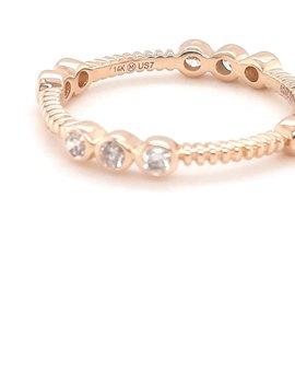 Diamond (0.35ctw) bezel set rope band 14k yellow gold
