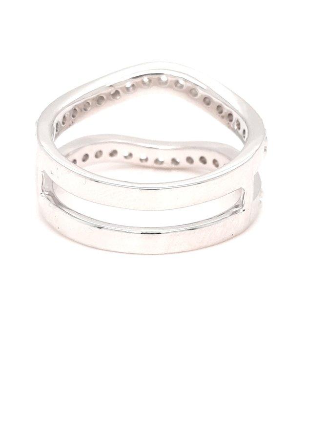 Diamond (0.90ctw) ring guard 14k white gold