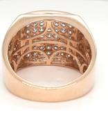 Diamond (1.93ctw) men's fashion ring 14k yellow gold