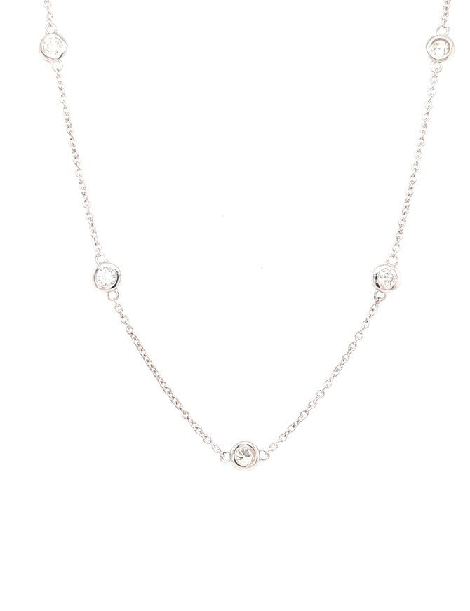 Diamond (0.50ctw)  by yard  necklace, 14k white gold