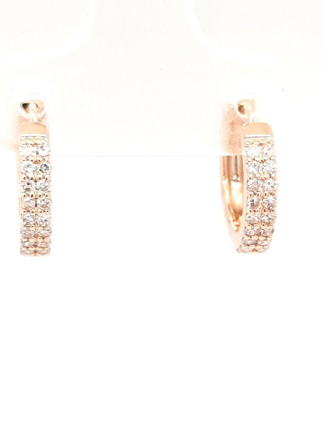 Diamond (0.18ctw) huggie hoop earrings 14k yellow gold
