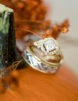Diamond (0.14 ctw) antique setting, 14k yellow gold
