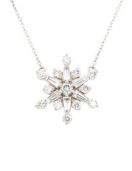 Diamond (0.55ctw) snowflake necklace 14k white gold