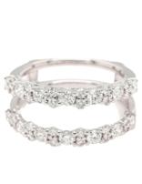 Diamond (1.00 ctw) guard band, 14k white gold