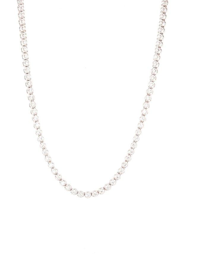 Diamond (2.85ctw) tennis necklace 14k white gold