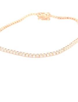 Diamond (0.79tw) tennis bracelet 14k yellow gold