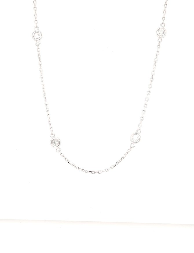 Diamond (0.51ctw) by  yard necklace 14k white gold